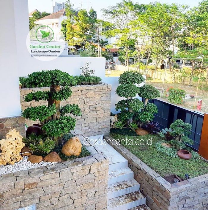 taman minimalis di balkon